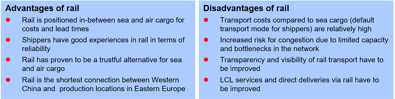 rail advantages and disadvantages