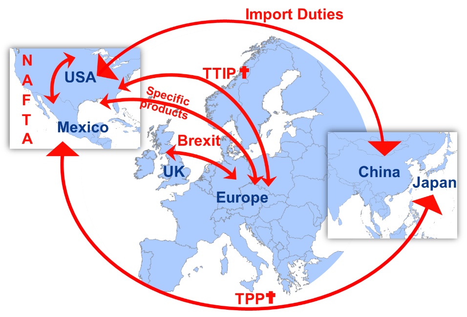 Supply chain solutions for trade tariff disputes